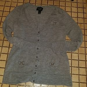 White House Black Market Button Down Sweater